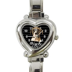 Bad dog Heart Italian Charm Watch