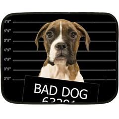 Bad dog Fleece Blanket (Mini)