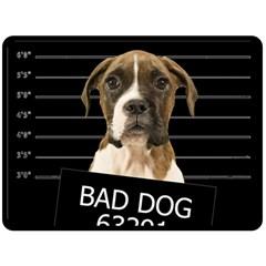 Bad dog Fleece Blanket (Large)