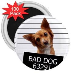 Bad dog 3  Magnets (100 pack)