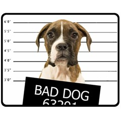 Bad dog Fleece Blanket (Medium)