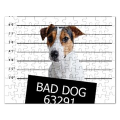 Bad dog Rectangular Jigsaw Puzzl