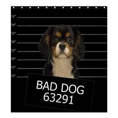 Bad dog Shower Curtain 66  x 72  (Large)