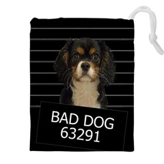 Bad dog Drawstring Pouches (XXL)