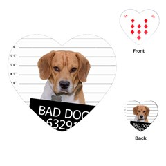 Bad dog Playing Cards (Heart)