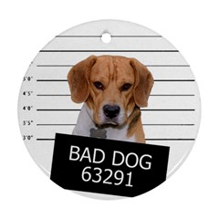 Bad dog Round Ornament (Two Sides)
