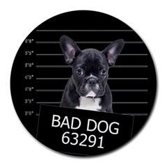 Bad dog Round Mousepads