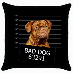 Bad dog Throw Pillow Case (Black)