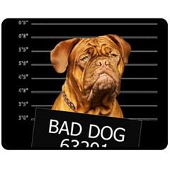 Bad dog Fleece Blanket (Medium)