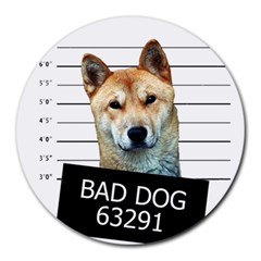 Bad dog Round Mousepads