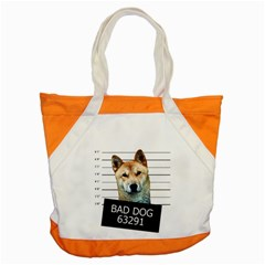 Bad dog Accent Tote Bag