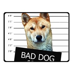 Bad dog Fleece Blanket (Small)