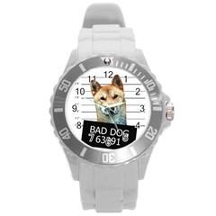 Bad Dog Round Plastic Sport Watch (l)
