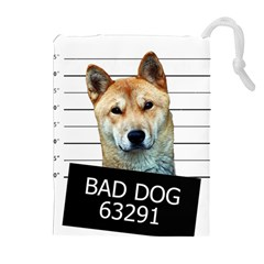 Bad dog Drawstring Pouches (Extra Large)