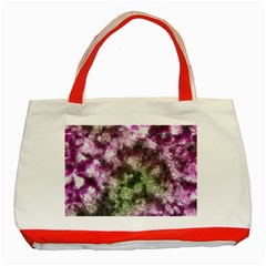 Purple green paint texture          Classic Tote Bag (Red)