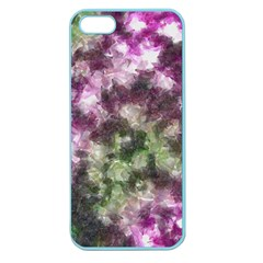 Purple green paint texture    Apple Seamless iPhone 5 Case (Clear)