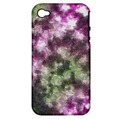 Purple green paint texture    Apple iPhone 3G/3GS Hardshell Case (PC+Silicone)