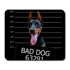Bad dog Large Mousepads