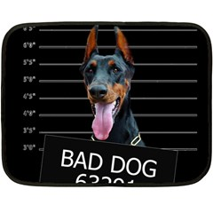 Bad dog Double Sided Fleece Blanket (Mini)