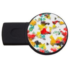 Colorful paint stokes           USB Flash Drive Round (2 GB)