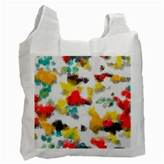 Colorful paint stokes           Recycle Bag (One Side)