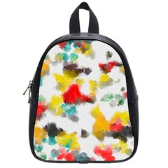 Colorful paint stokes           School Bag (Small)