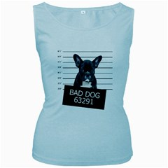 Bad dog Women s Baby Blue Tank Top