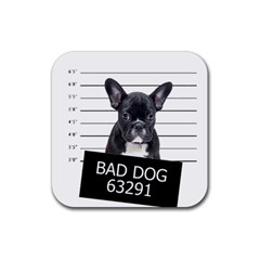Bad dog Rubber Square Coaster (4 pack)