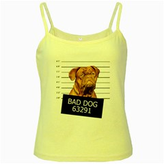 Bad dog Yellow Spaghetti Tank