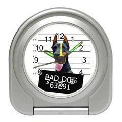 Bad dog Travel Alarm Clocks