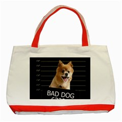 Bad dog Classic Tote Bag (Red)