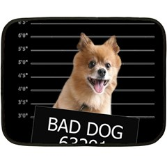 Bad dog Fleece Blanket (Mini)