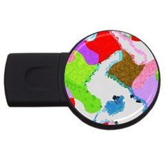 Painted shapes            USB Flash Drive Round (2 GB)