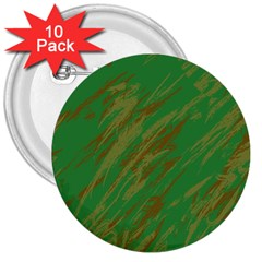 Brown Green Texture             3  Button (10 Pack)