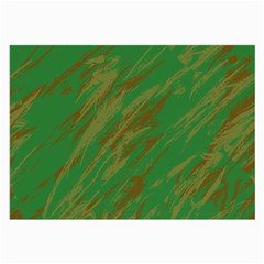 Brown green texture             Large Glasses Cloth