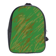 Brown green texture             School Bag (Large)
