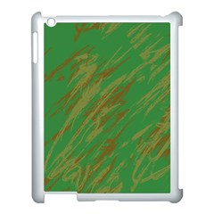 Brown green texture       Apple iPad 3/4 Case (Black)