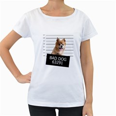 Bad dog Women s Loose-Fit T-Shirt (White)