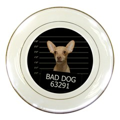 Bad dog Porcelain Plates