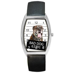 Bad dog Barrel Style Metal Watch