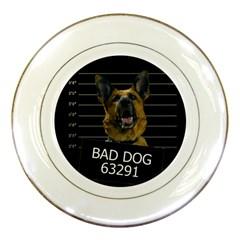 Bad dog Porcelain Plates