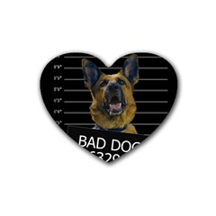 Bad dog Rubber Coaster (Heart)