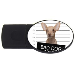 Bad dog USB Flash Drive Oval (1 GB)