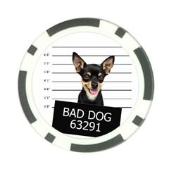 Bad dog Poker Chip Card Guard