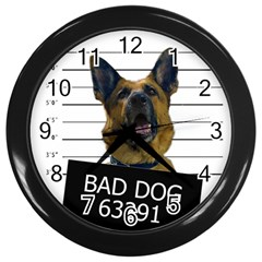 Bad dog Wall Clocks (Black)