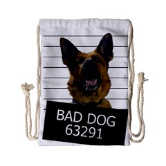 Bad dog Drawstring Bag (Small)