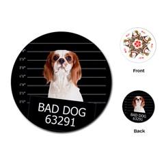 Bad dog Playing Cards (Round)
