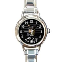 Bad dog Round Italian Charm Watch