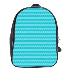 Abstract Blue Waves Pattern School Bags(large)