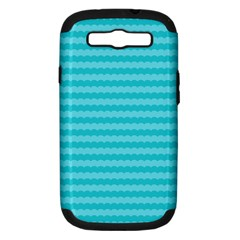 Abstract Blue Waves Pattern Samsung Galaxy S Iii Hardshell Case (pc+silicone)